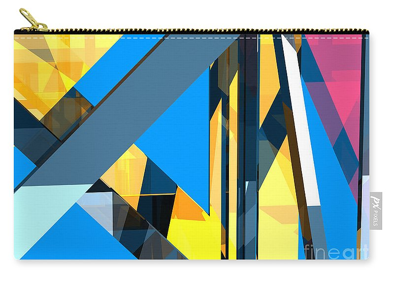 Abstract Carry-all Pouch featuring the digital art Abstract Sine L 18 by Russell Kightley