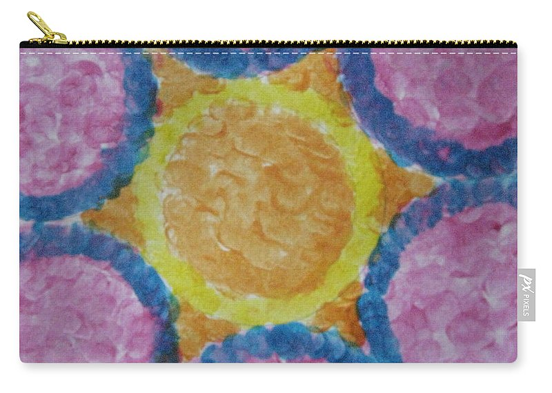 Sun Carry-all Pouch featuring the painting Abstract Sun by Sonali Gangane