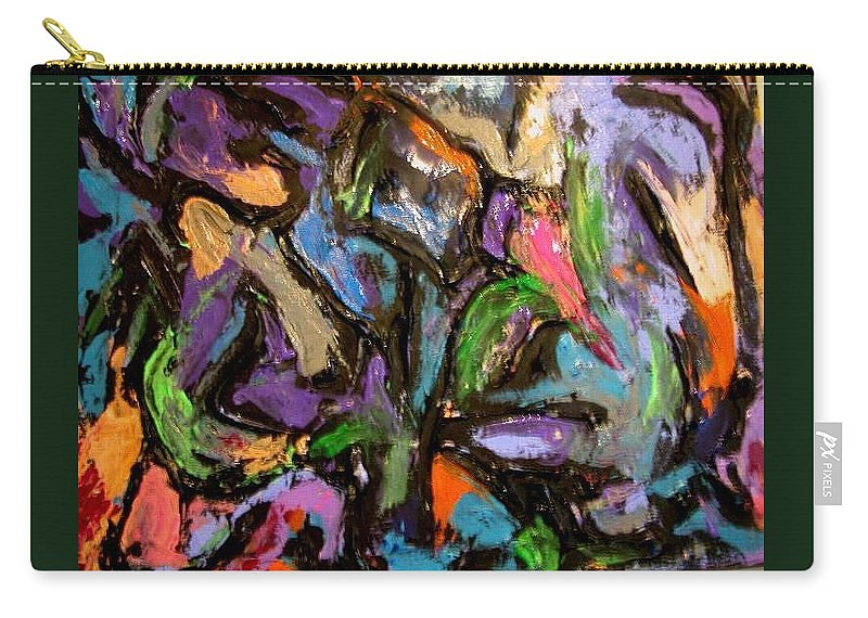 Carry-all Pouch featuring the painting Abstrak by Jan Gilmore