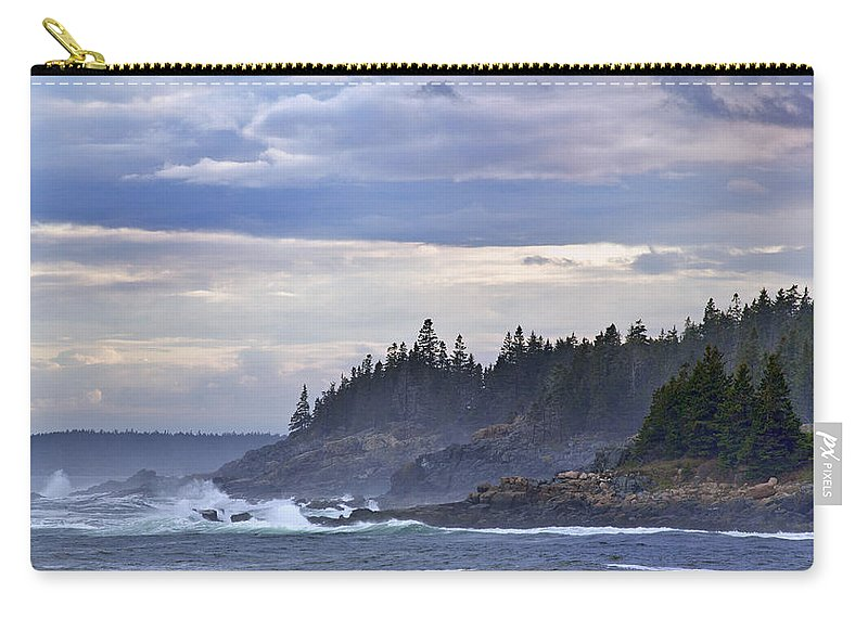Maine Carry-all Pouch featuring the photograph Acadian Cove by Rick Berk