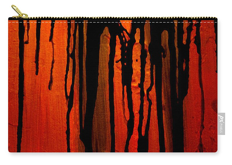 Acid Rain Carry-all Pouch featuring the painting Acid Rain by Bruce Stanfield