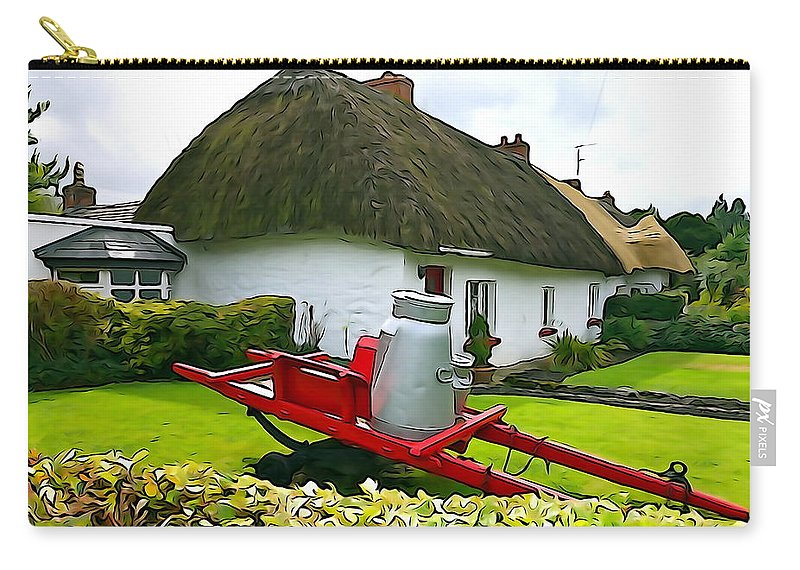 Cottage Carry-all Pouch featuring the photograph Adare Cottage by Charlie and Norma Brock