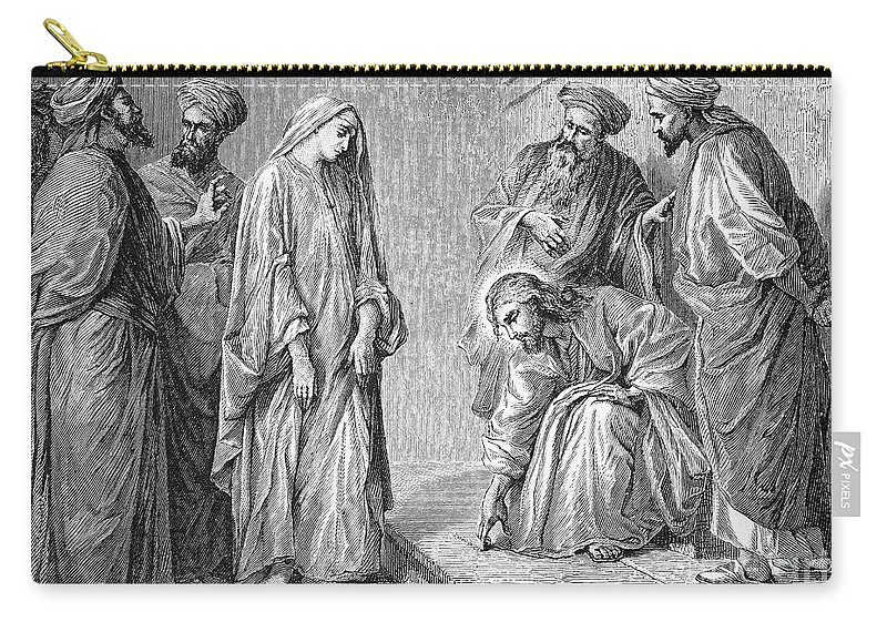 Adultery Carry-all Pouch featuring the photograph Adulterous Woman by Granger
