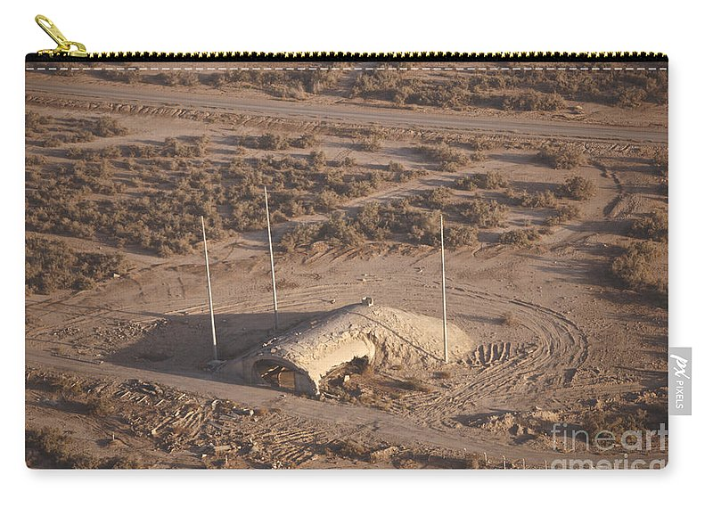 Operation Iraqi Freedom Carry-all Pouch featuring the photograph Aerial View Of A Destroyed Iraqi by Terry Moore