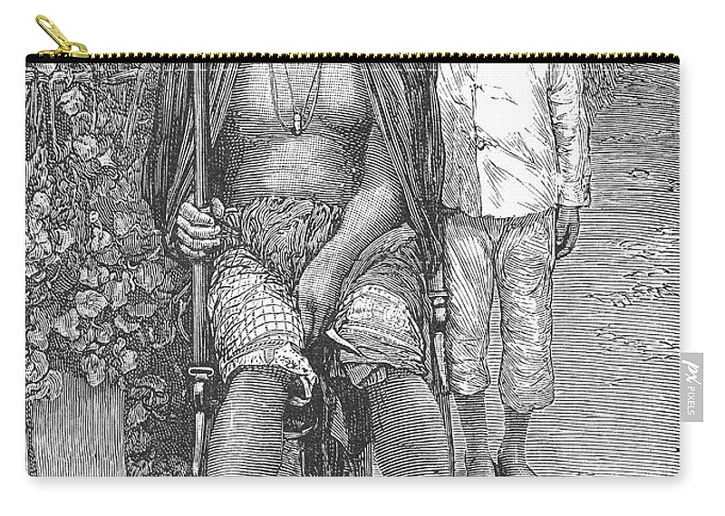 1889 Carry-all Pouch featuring the photograph Africa: Makololo Chief by Granger