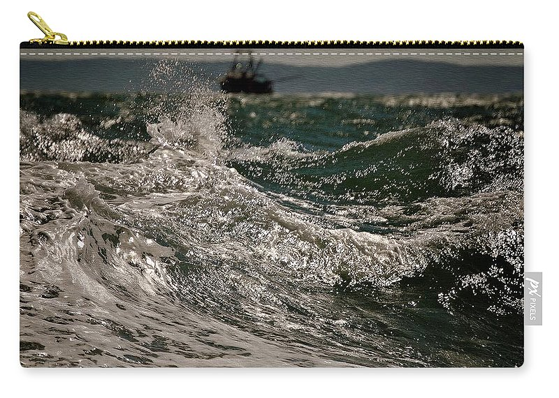 Beach House Decor Carry-all Pouch featuring the photograph After The Hurricane Cape Cod by Marysue Ryan