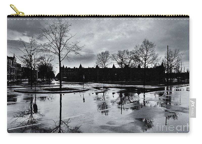 Rain Carry-all Pouch featuring the photograph Den Haag After The Rain by Andy Prendy