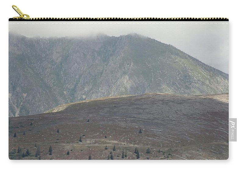 Photos Of Mt St Helens Photographs Carry-all Pouch featuring the photograph Aftermath by Christy Leigh