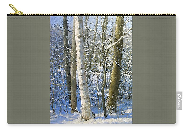 Landscape Carry-all Pouch featuring the painting Afternoon Glow by Olena Lopatina