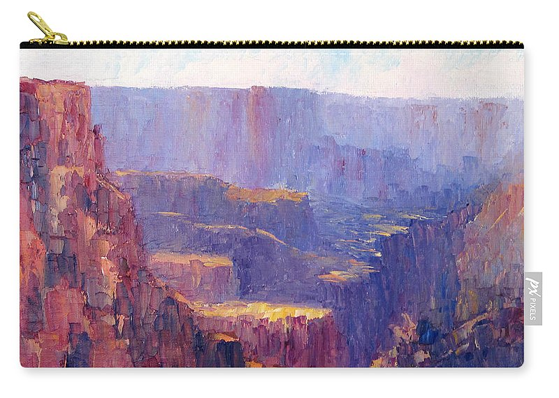 Grand Canyon Carry-all Pouch featuring the painting Afternoon In The Canyon by Terry Chacon