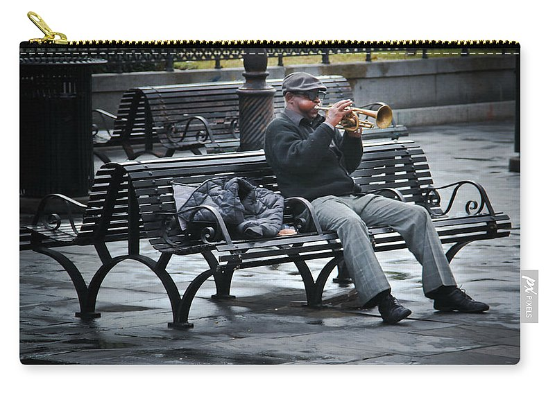Music Carry-all Pouch featuring the photograph Afternoon Music by Perry Webster