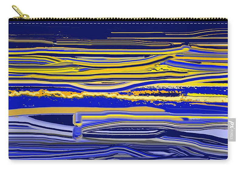 Abstract Carry-all Pouch featuring the digital art Afternoon Stretch by Ian MacDonald