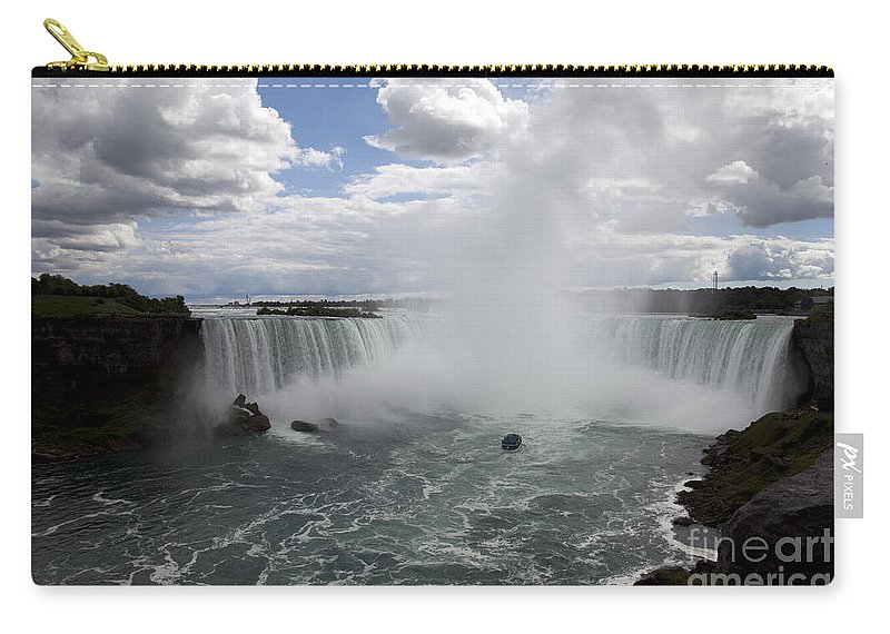 Niagara Carry-all Pouch featuring the photograph Against the Current by Amanda Barcon