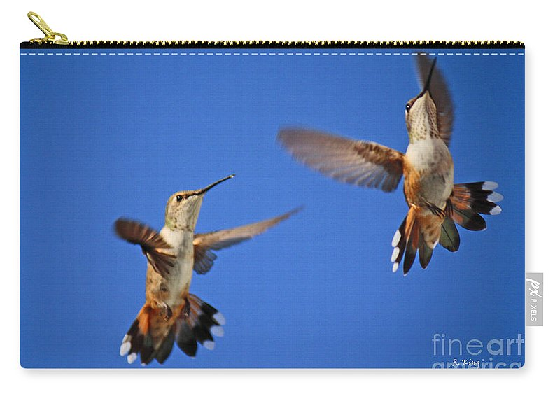 Roena King Carry-all Pouch featuring the photograph Air Dance by Roena King