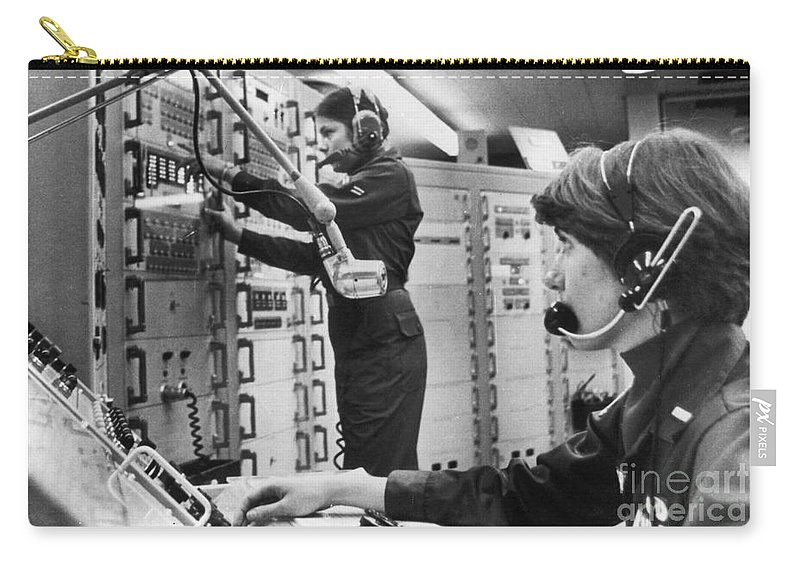 1978 Carry-all Pouch featuring the photograph Air Force Crew, 1978 by Granger