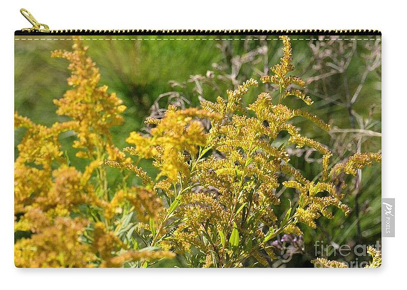 Alabama Goldenrod Carry-all Pouch featuring the photograph Alabama Goldenrod by Maria Urso