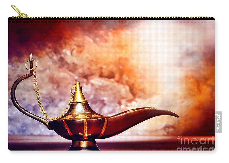 Aladdin Carry-all Pouch featuring the photograph Aladdin Lamp by Olivier Le Queinec