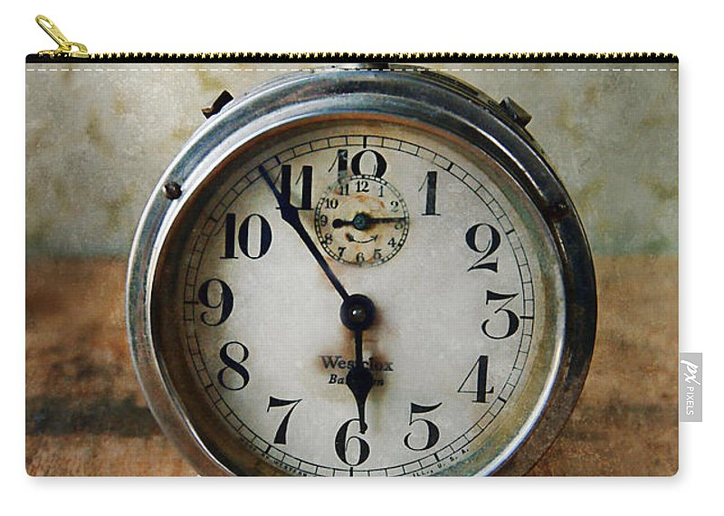 Clock Carry-all Pouch featuring the photograph Alarm Clock by Jill Battaglia
