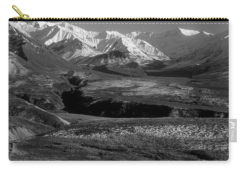 Alaska Carry-all Pouch featuring the photograph Alaska Valley by Sandra Bronstein