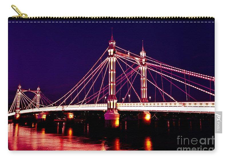 London Carry-all Pouch featuring the photograph Albert Bridge London by David Pyatt