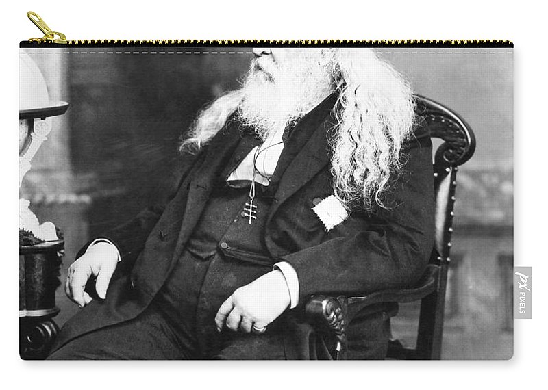 19th Century Carry-all Pouch featuring the photograph Albert Pike (1809-1891) by Granger