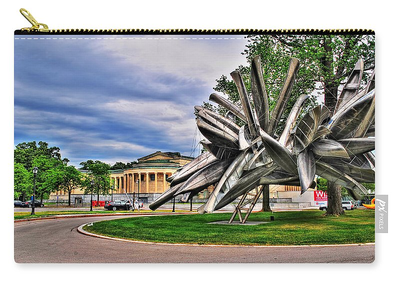 Carry-all Pouch featuring the photograph Albright Knox Art Gallery by Michael Frank Jr