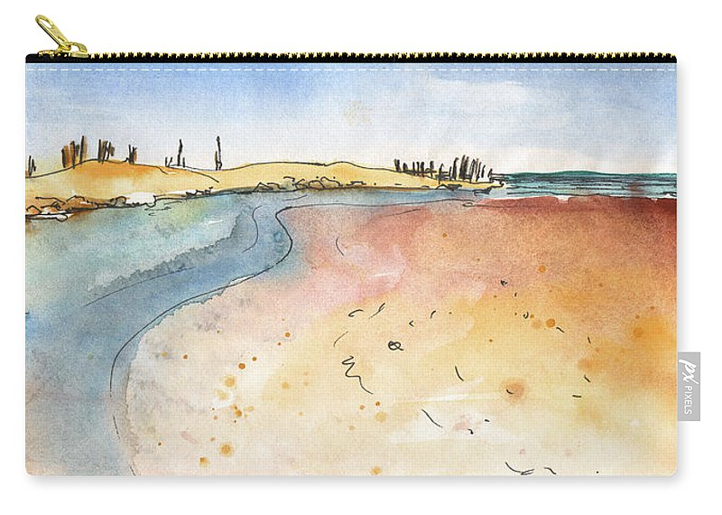 Travel Carry-all Pouch featuring the painting Albufera De Valencia 06 by Miki De Goodaboom