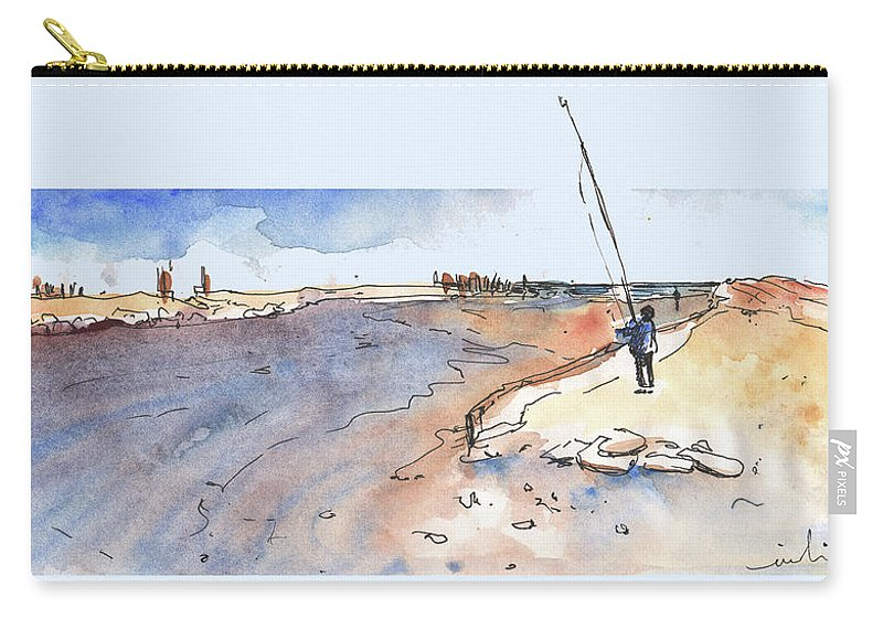 Travel Carry-all Pouch featuring the painting Albufera De Valencia 08 by Miki De Goodaboom