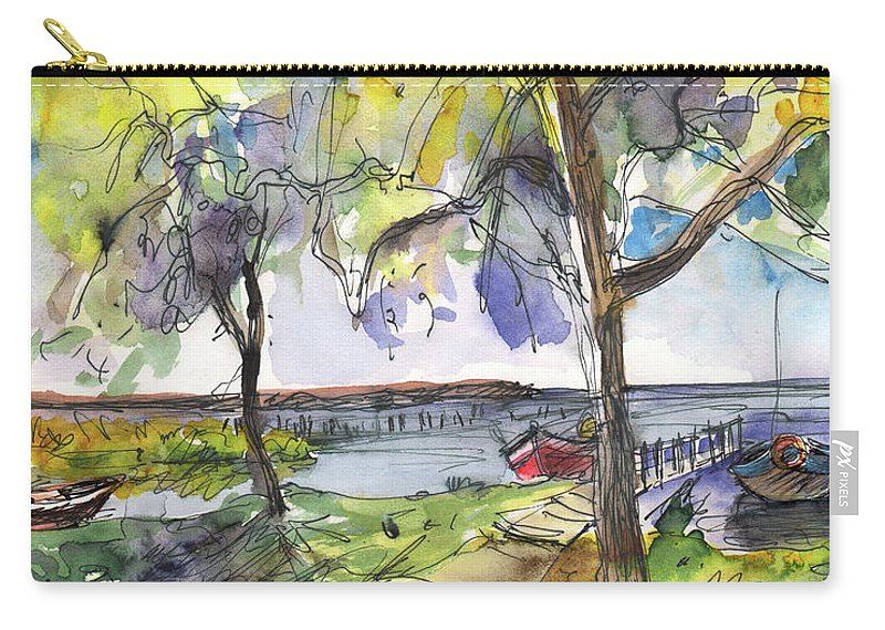 Travel Carry-all Pouch featuring the painting Albufera De Valencia 10 by Miki De Goodaboom