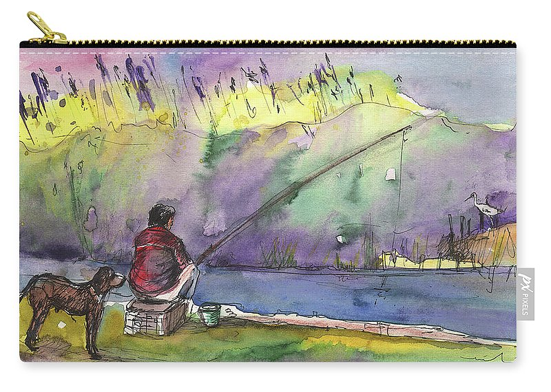 Travel Sketch Carry-all Pouch featuring the painting Albufera De Valencia 12 B by Miki De Goodaboom