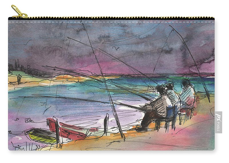 Travel Sketch Carry-all Pouch featuring the painting Albufera De Valencia 13 by Miki De Goodaboom
