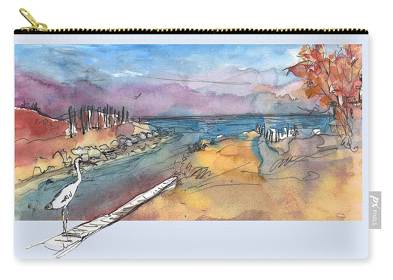 Travel Carry-all Pouch featuring the painting Albufera De Valencia 15 by Miki De Goodaboom