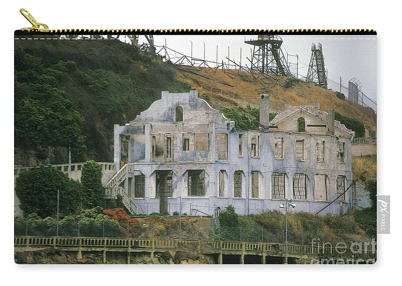 Alcatraz Carry-all Pouch featuring the photograph Alcatraz Skeleton by Paul W Faust - Impressions of Light
