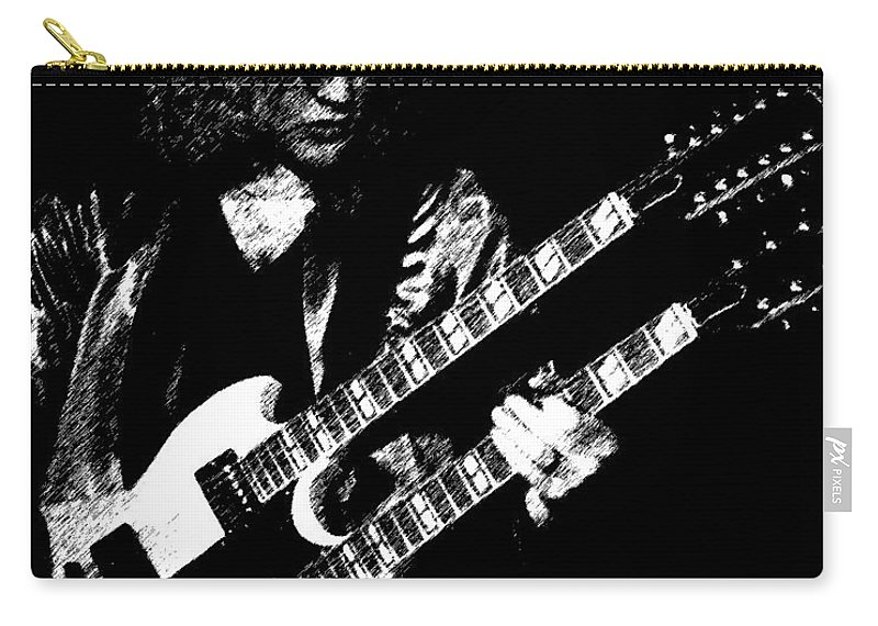 Rush Carry-all Pouch featuring the photograph Doubleneck Sketch 1978 by Ben Upham