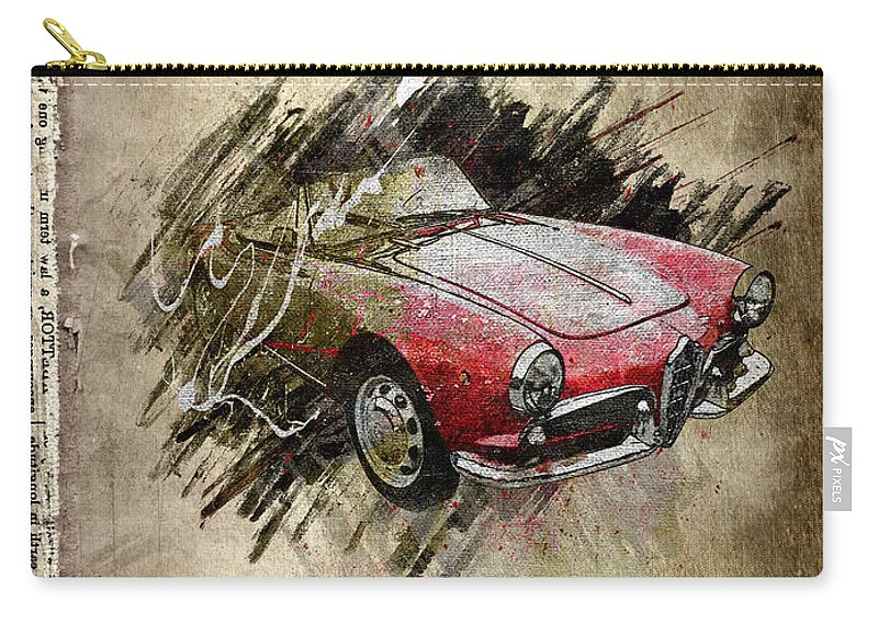 Active Carry-all Pouch featuring the digital art Alfa Romeo by Svetlana Sewell
