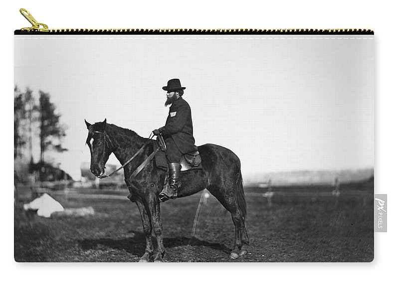 1860s Carry-all Pouch featuring the photograph Alfred R. Waud (1828-1891) by Granger