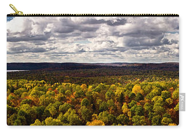 Algonquin Carry-all Pouch featuring the photograph Algonquin Park Panorama by Cale Best