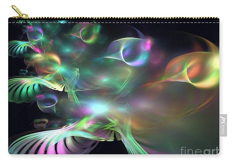 Apophysis Carry-all Pouch featuring the digital art Alien Shrub by Kim Sy Ok