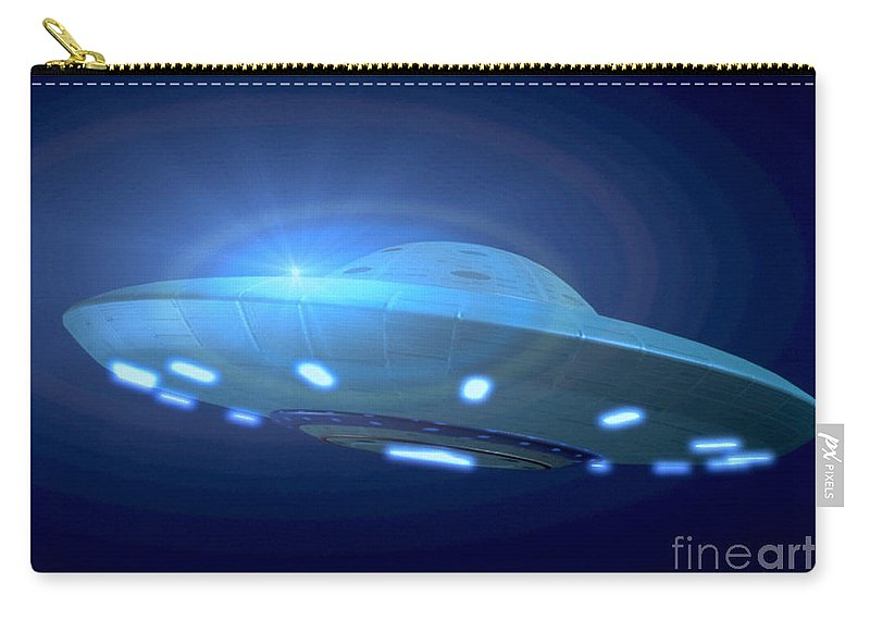 Horizontal Carry-all Pouch featuring the photograph Alien Spacecraft by Gregory MacNicol and Photo Researchers
