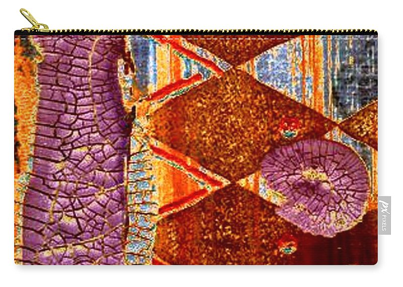 Dressed Up Woman Carry-all Pouch featuring the digital art All Dressed Up  Nowhere To Go by Angela L Walker