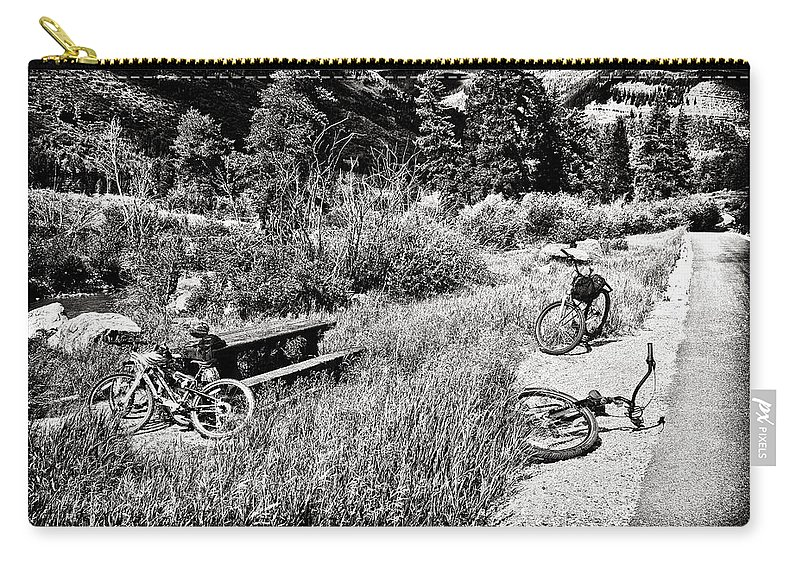 Bike Carry-all Pouch featuring the photograph All Fall Down by Madeline Ellis