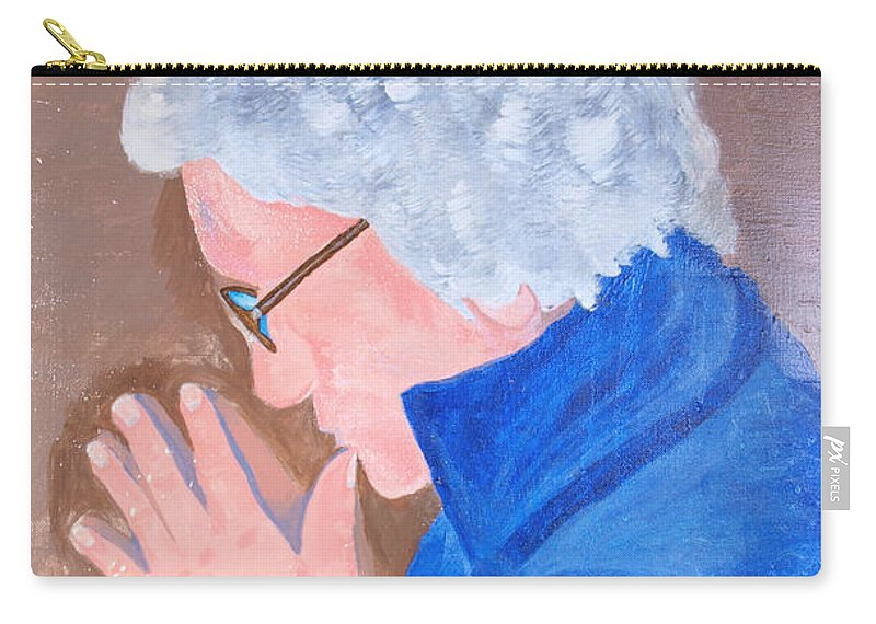 Elder Carry-all Pouch featuring the painting All In The Mind by Lisa Brandel