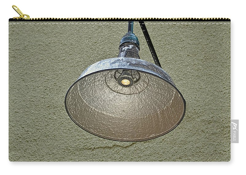 Alley Carry-all Pouch featuring the photograph Alley Light by Bill Owen
