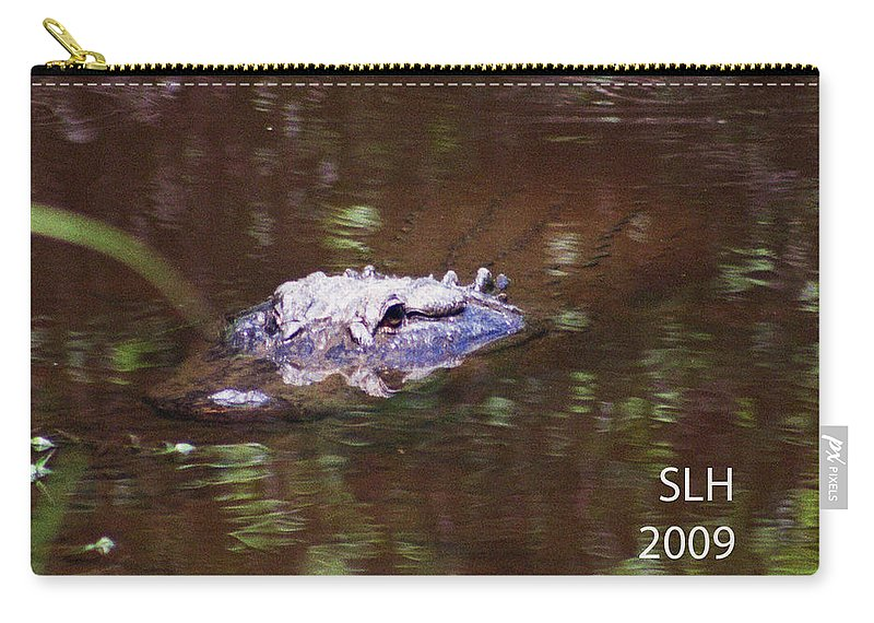 Lee Carry-all Pouch featuring the photograph Alligator by Lee Hartsell