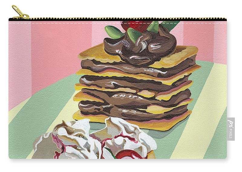 Almond Carry-all Pouch featuring the painting Almond Cake by Shirley Radebach