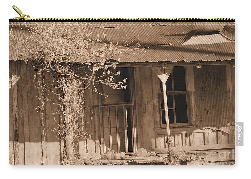 Old Carry-all Pouch featuring the photograph Almost Forgotten by Karen Wagner