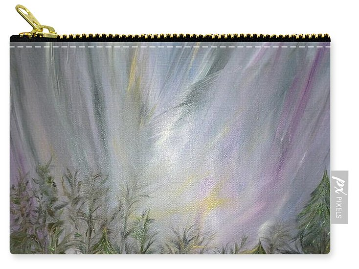 Inspirational Carry-all Pouch featuring the painting Almost There by Sara Credito