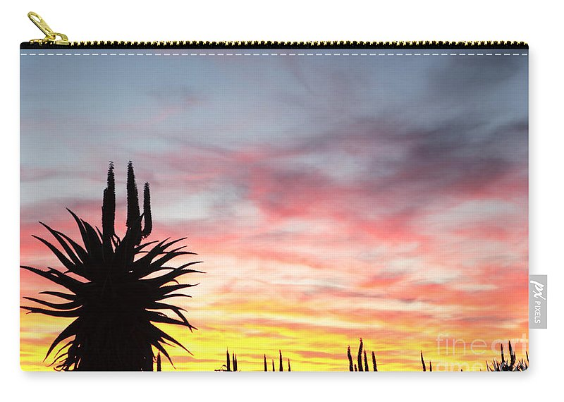Aloe Feros Carry-all Pouch featuring the photograph Aloe Ferox South Africa by Neil Overy