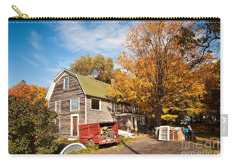 Fall Carry-all Pouch featuring the photograph Along Route 20 by Rob Hawkins