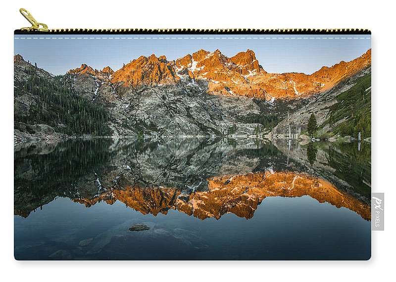 Sierra Carry-all Pouch featuring the photograph Alpenglow At Upper Sardine Lake by Greg Nyquist